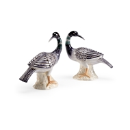 Chelsea House Home Loon Sculptures - Black - Pair 384576 Ceramic