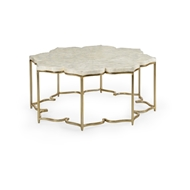 Chelsea House Home Lotus Flower Cocktail Table 384198 Shell