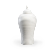 Chelsea House Home Matte White Hive Urn - Large 384054 Ceramic