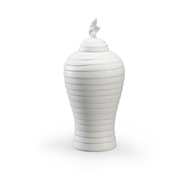 Chelsea House Home Matte White Hive Urn - Small 384053 Ceramic
