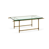Chelsea House Home Monument Coffee Table - Gold 383786 Glass