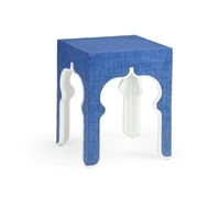 Chelsea House Home Moroccan Side Table - Blue 384418 Raffia/Wood