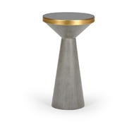 Chelsea House Home N Y Drink Table - Gray 383927 Glass