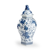 Chelsea House Home Qing Covered Urn 383998 Porcelain
