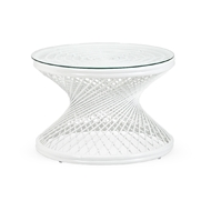 Chelsea House Home Rattan Coffee Table - White 384588 Rattan/Glass