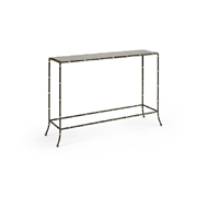 Chelsea House Home Saigon Console 384473 Metal/Mirror