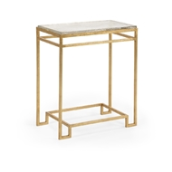 Chelsea House Home Seed Glass Side Table - Gold 384315 Iron/Glass