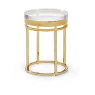 Chelsea House Home Shelby End Table 384102 Metal/Acrylic