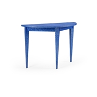 Chelsea House Home Swedish Console - Blue 384427 Raffia/Wood