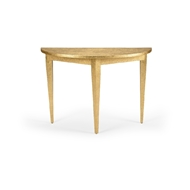 Chelsea House Home Swedish Console - Gold 384428 Raffia/Wood