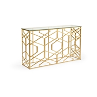 Chelsea House Home Trellis Console 383882 Glass