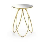 Chelsea House Home Tri-Leg Table - Gold 384560 Metal/Mirror
