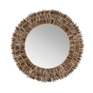 Chelsea House Home Urchin Spine Mirror 384176 Shell/Mirror