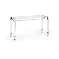 Chelsea House Home Vancouver Console 384475 Acrylic/Glass/Metal