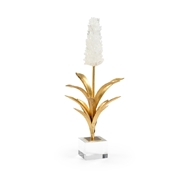 Chelsea House Home White Hyacinth 384546 Rock Crystal/Iron