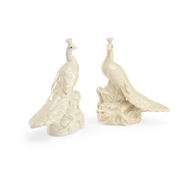 Chelsea House Home White Peacocks - Pair 383756 Ceramic