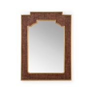 Chelsea House Home Yangon Mirror - Brown 384226 Raffia/Wood/Mirror