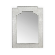 Chelsea House Home Yangon Mirror - Silver 384227 Raffia/Wood/Mirror