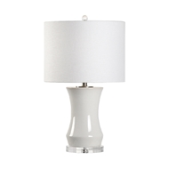 Chelsea House Lighting Bel Air Lamp - White Crackle Glaze 69550 Ceramic