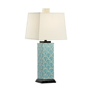 Chelsea House Lighting Blue Kansas Lamp 69418 Wood/Bone & Composite