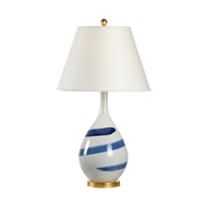 Chelsea House Lighting Blue Swirl Lamp 69504 Porcelain