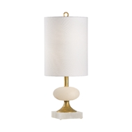 Chelsea House Lighting Charlotte Lamp 69422 Alabaster/Iron