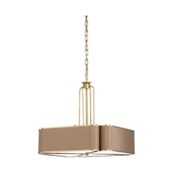 Chelsea House Lighting Classic Pendant 69616 Iron/Fabric/Glass