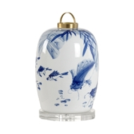 Chelsea House Lighting Fish Canton Lantern Lamp - Large 69610 Ceramic
