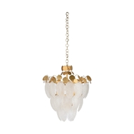 Chelsea House Lighting Glass Leaf Chandelier 69580 Iron/Glass