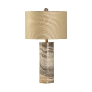 Chelsea House Lighting Gray Marble Column Lamp 69562 Marble