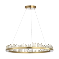 Chelsea House Lighting Jones Chandelier 69622 Iron/Rock Crystal