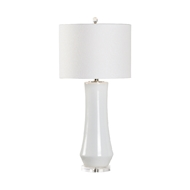Chelsea House Lighting Landover Lamp - White - White Glaze 69555 Ceramic