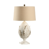 Chelsea House Lighting Large Cream Artichoke Lamp 69451 Ceramic