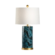 Chelsea House Lighting Malachite Cylinder Lamp 69973 Ceramic