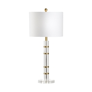 Chelsea House Lighting Merida Crystal Lamp 69974 Acrylic/Brass