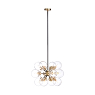Chelsea House Lighting Naal Chandelier 69983 Brass/Glass
