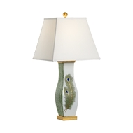 Chelsea House Lighting Peacock Feather Lamp 69998 Ceramic