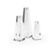 Chelsea House Lighting Pyramid Candlesticks - Set of 3 383832 Crystal