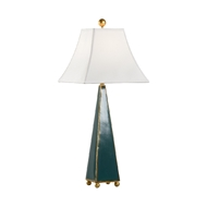 Chelsea House Lighting Pyramid Lamp - Green 70014 Ceramic