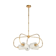 Chelsea House Lighting Ring Chandelier - Gold 69589 Iron/Fabric