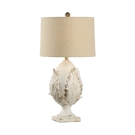 Chelsea House Lighting Small Cream Artichoke Lamp 69453 Ceramic