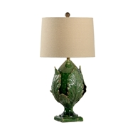 Chelsea House Lighting Small Green Artichoke Lamp 69452 Ceramic