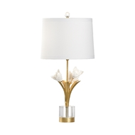 Chelsea House Lighting Small Tulip Lamp 69571 Iron/Porcelain