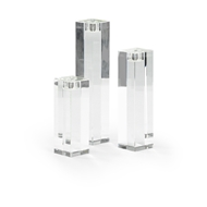 Chelsea House Lighting Statue Candlesticks - Set of 3 383831 Crystal