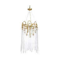 Chelsea House Lighting Sutton House Chandelier 69625 Brass/Glass