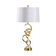 Chelsea House Lighting Swirl Gold Lamp 69408 Iron/Acrylic