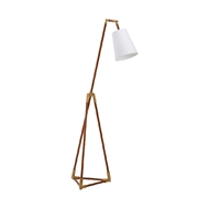 Chelsea House Lighting Triangle Floor Lamp - Brown 69344 Iron, Leather & Metal