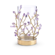 Chelsea House Lighting Vase With Purple Crystal 384032 Glass