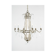 Chelsea House Lighting Wakefield Chandelier 68033 Italian Gilt Metal Frame