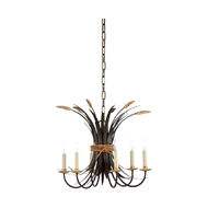 Chelsea House Lighting Wheat Chandelier - Bronze 69411 Iron